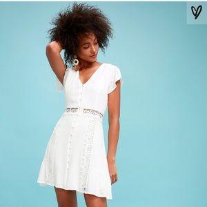 Lulu's detail White Dress